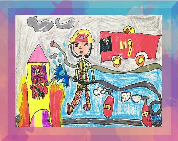 """""""我是小小消防员""""首届儿童绘画有奖征集活动作品网络展播为丰富消防"""