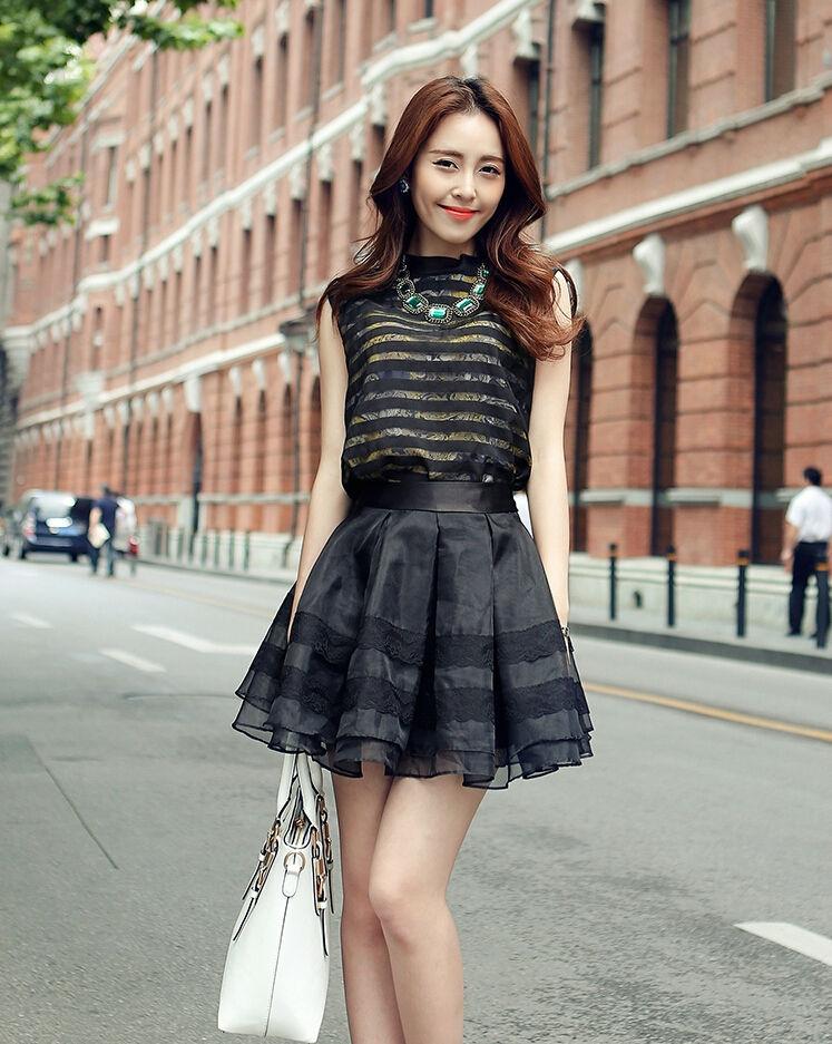 背心蓬蓬裙搭配_黑色蓬蓬裙配什么上衣