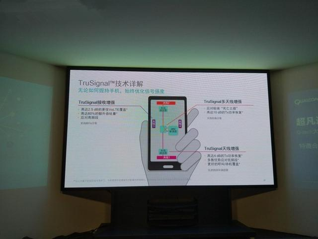 trusignal可智能地將手機頂部的副天線變成主天線來使用,保持通話質量圖片