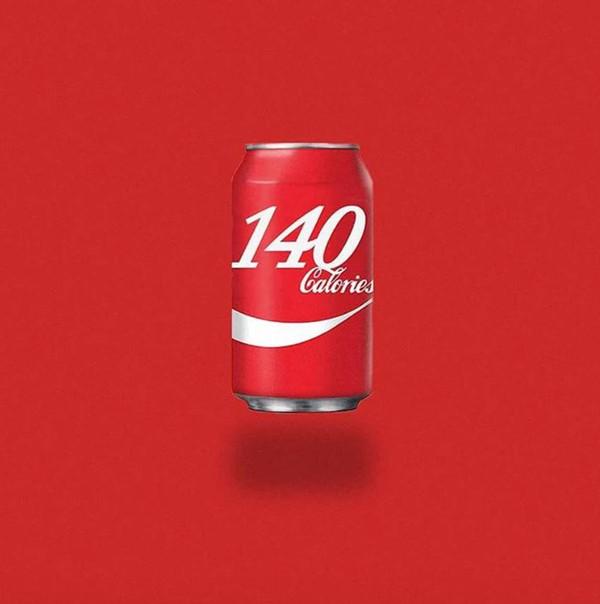 一罐330ml的可口可樂,140卡路里
