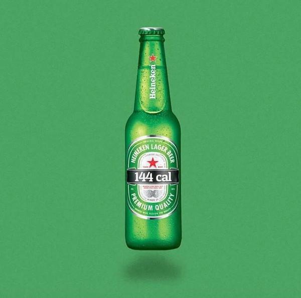 一瓶喜力啤酒,144卡路里