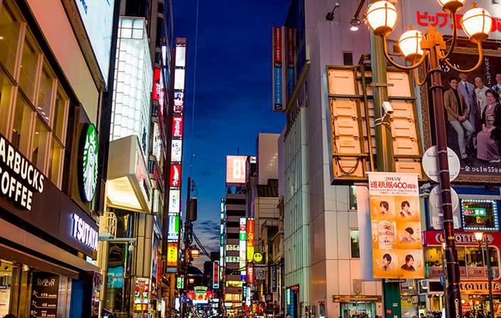 日本大阪_心斋桥是位于日本大阪府大阪市中央区的商业购物区,是