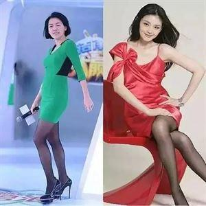 郭美美绿裙子_这些女星同样是穿丝袜,最美的竟然是萝卜腿邓紫棋