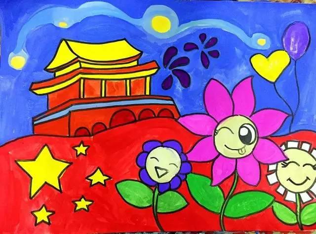 祖国在我心中水彩画_我心中的祖国儿童画相关图片展示_我心中的祖国儿童画图片下载