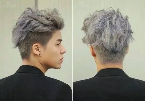 张贤胜银灰色�yg�_男生染这几个发色是不!会!有女孩子喜欢的!