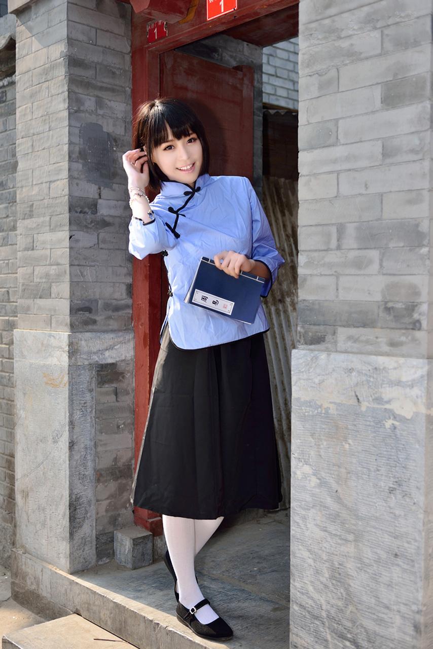 时尚学生装图片_民国时尚 旧时代的中国女学生装