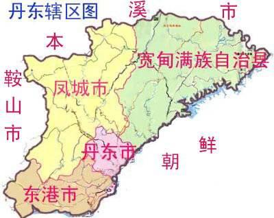 丹东市区划图