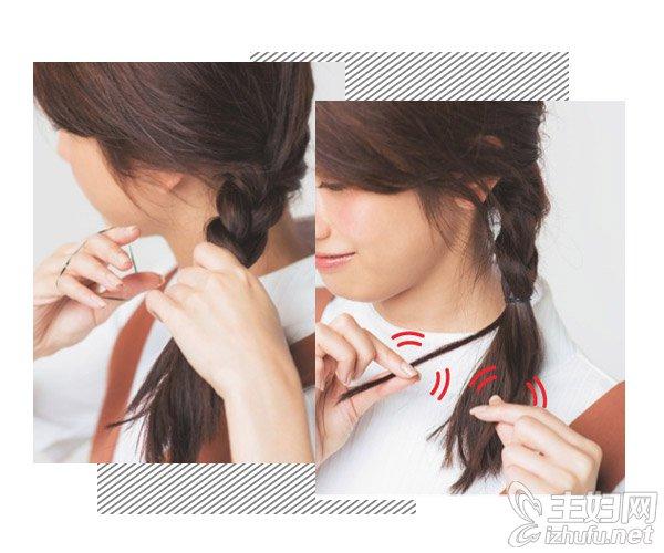 侧编麻花辫的编法_头发简单编发气质逼人 2款甜美风麻花辫的编法图解
