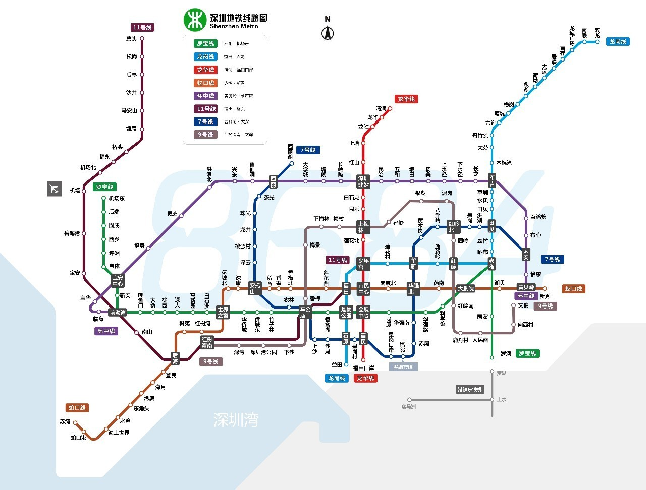 深圳地图线路_深圳5大地铁沿线,超实用美食游玩攻略!逛吃两不误!