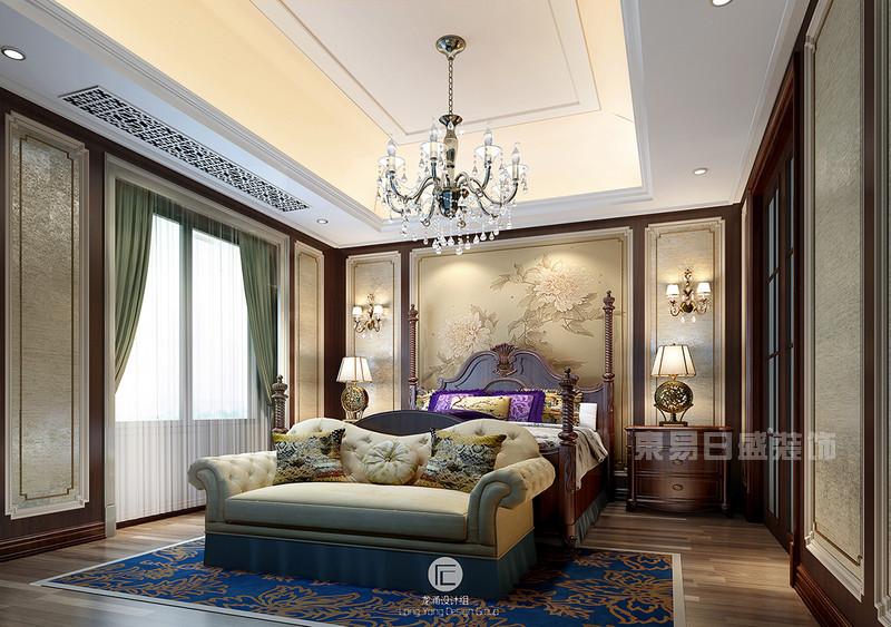 美式现代混搭_杭州别墅装修案例-和家园效果图-现代美式混搭风格