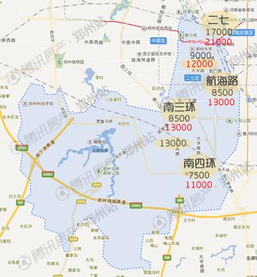 2016年郑州房价地图 真实数据曝光