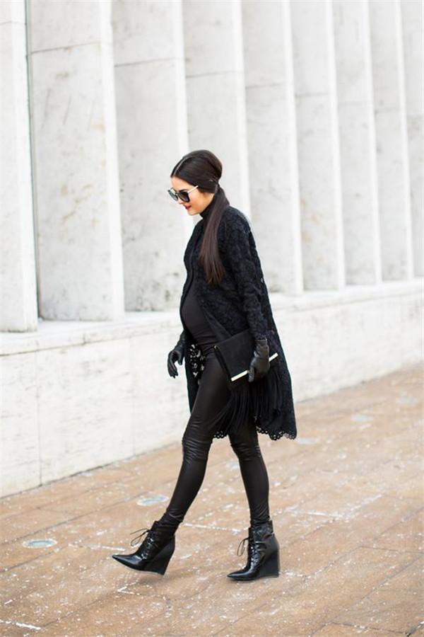 明星孕妈穿什么_欧美明星示范最新时尚孕妇装秋冬装街拍