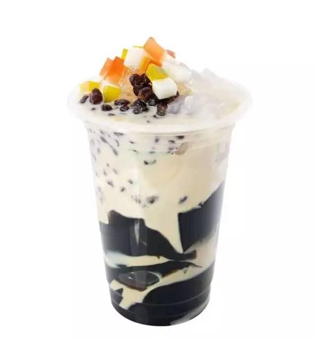 吃起来一口一个,故名一口蟹 烧仙草奶茶  烧仙草奶茶&九份芋圆是台湾