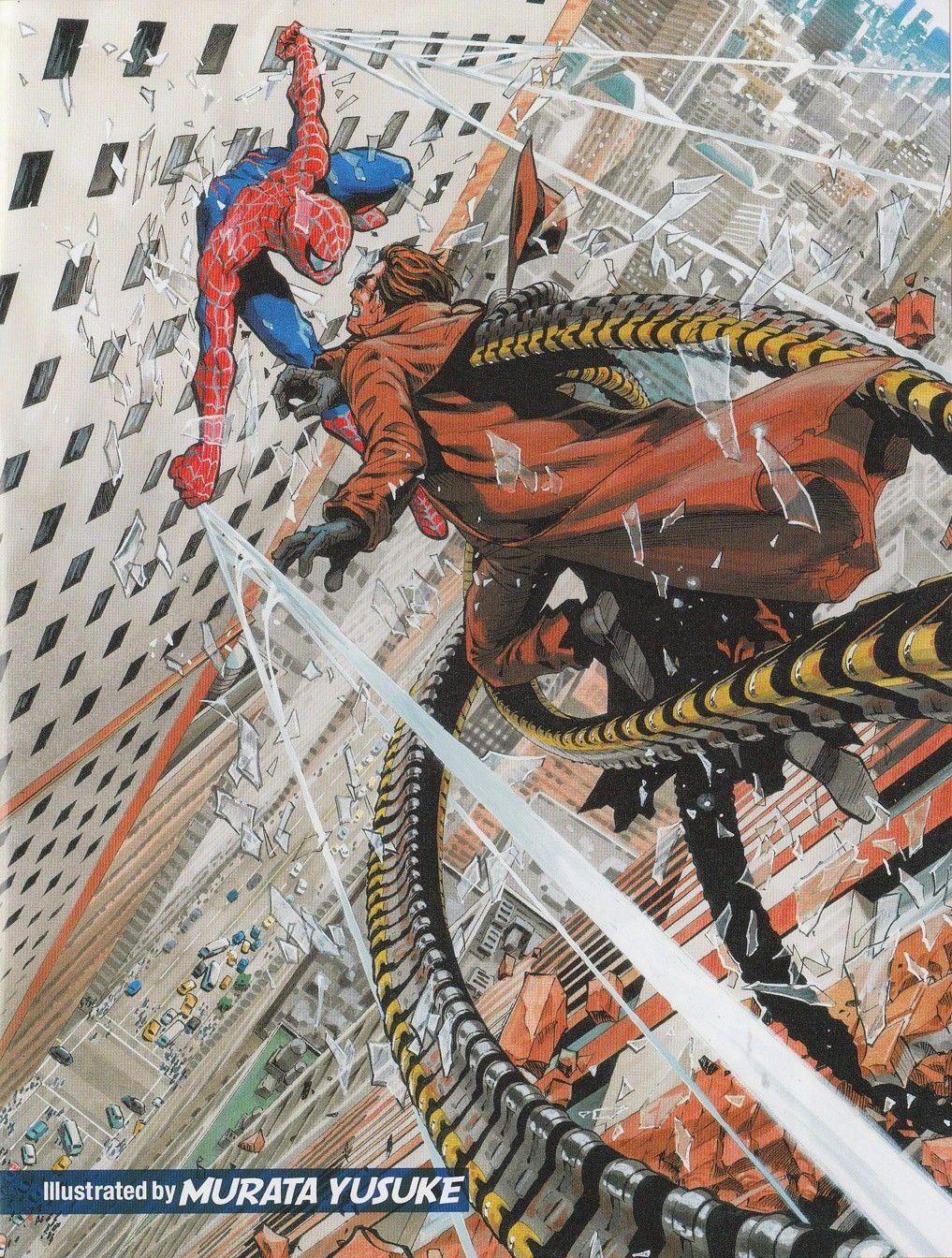 超人vs蜘蛛侠_《一拳超人》作者最新美漫英雄手绘图,画功惊人!