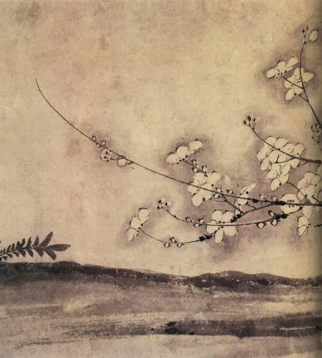 墨梅的品格_历代名画中的梅花:梅开百花之先,独天下而春