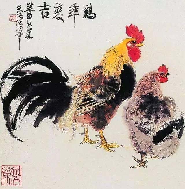 """国画写意鸡图片_鸡年""""话""""鸡   历代名家画鸡,大吉大利!-搜狐旅游"""