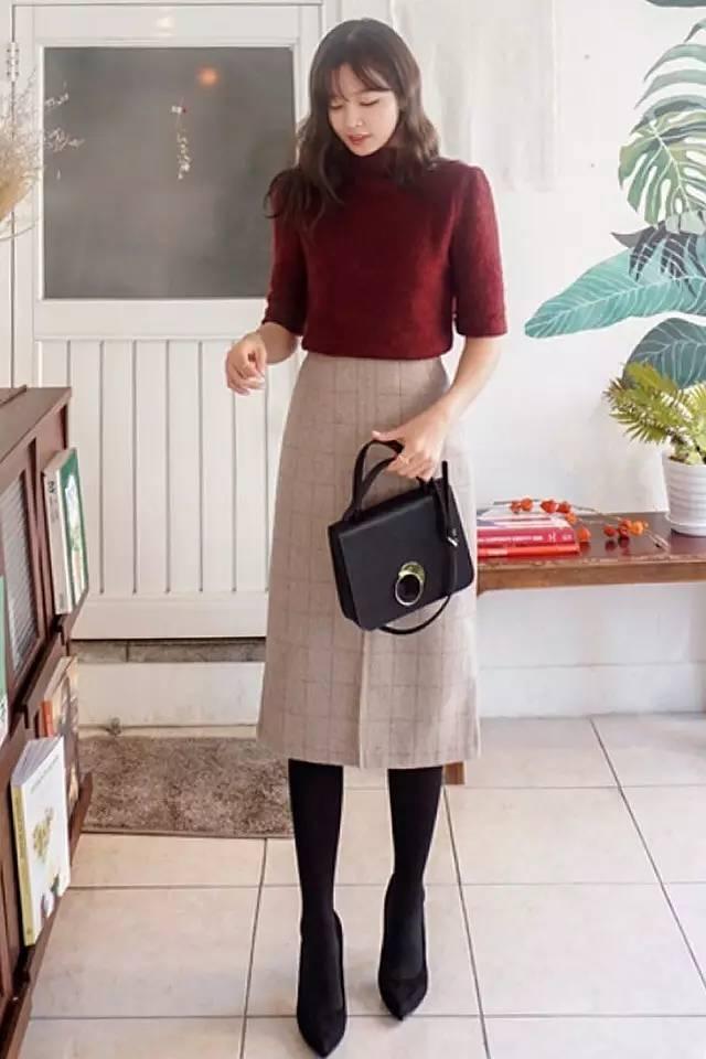 中長款的a字長裙是最不挑人的一款長裙,即便身高不夠,也可以嘗試圖片