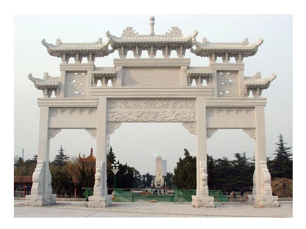 石牌坊雕刻的结构是什么