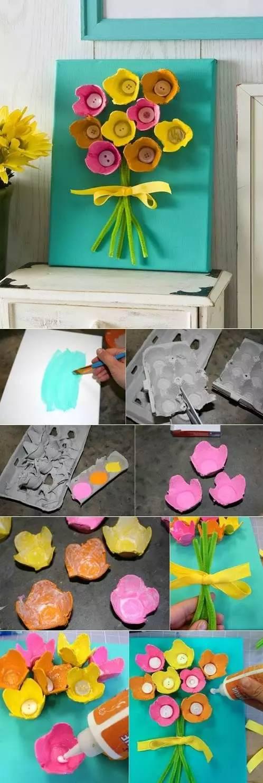 手工diy:幼兒園紙蛋托的創意手工!圖片
