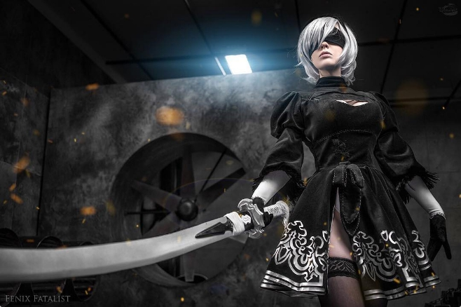 xfplay无码_《尼尔 机械军团》主角2b cosplay,连体内衣是这款?