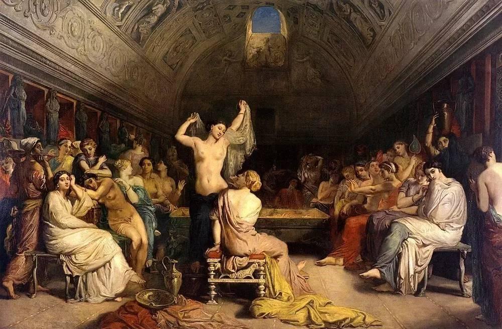 肉奴隶_浴场里有许多黑人奴隶,为浴客提供按摩,涂橄榄油,化妆和除毛等服务.