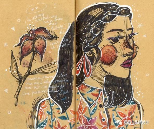 少女漏b艺术_i\\x26amp;b手绘丨从她的速写本上,我看到了关于信仰的美少女