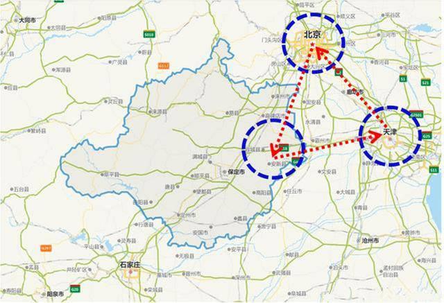 雄安与北京地图