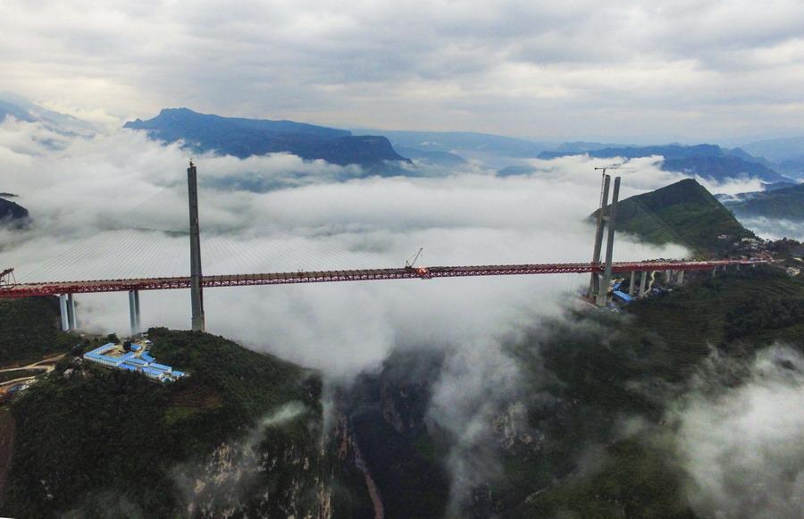 大桥的一日十次_贵州,世界第一高桥 国人的自豪