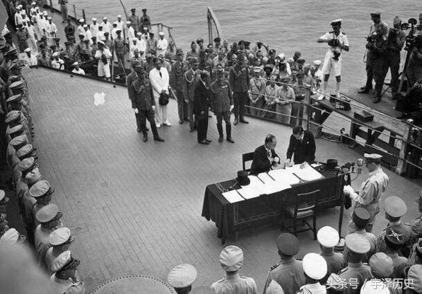 麦克阿瑟 日本_一组老照片:二战期间日本签署投降书旧照
