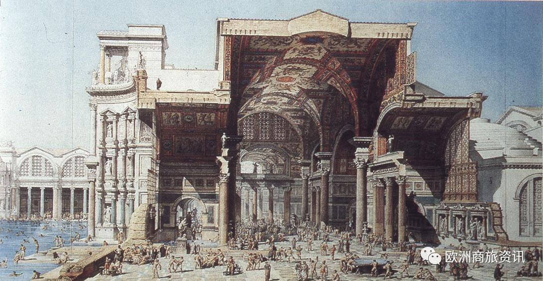 古羅馬人熱愛泡澡,大多數古羅馬城市都有至少一個公共浴場.圖片