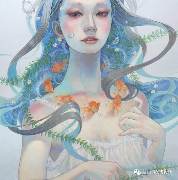少女漏b艺术_i&b手绘丨日本插画师笔下超空灵少女,似水柔情的绝美风