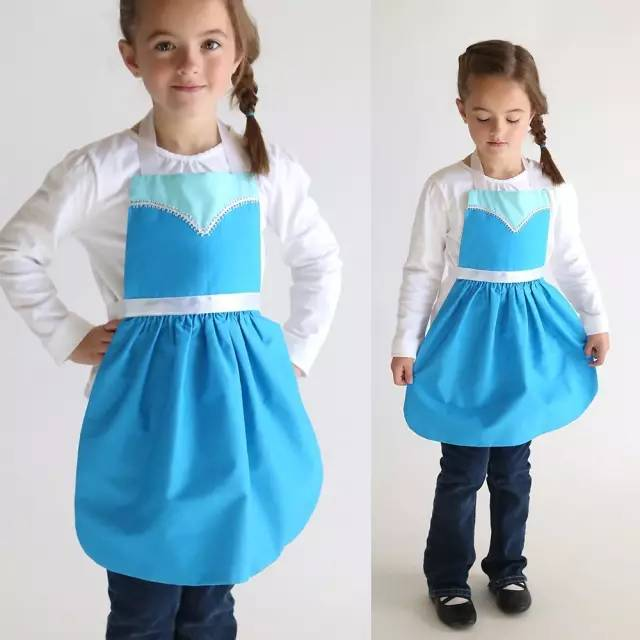 围裙妈妈脚_妈妈用旧衣服和小花布做了小围裙,再不用担心我画画弄脏衣服了