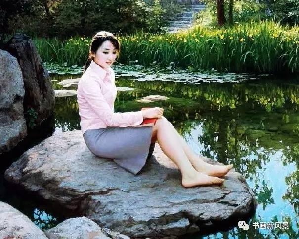 朝鲜_朝鲜油画中的美女真美!