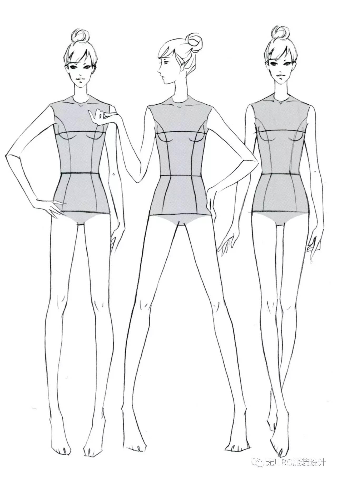 服装人体线稿形态_服装画人体效果_看猎奇