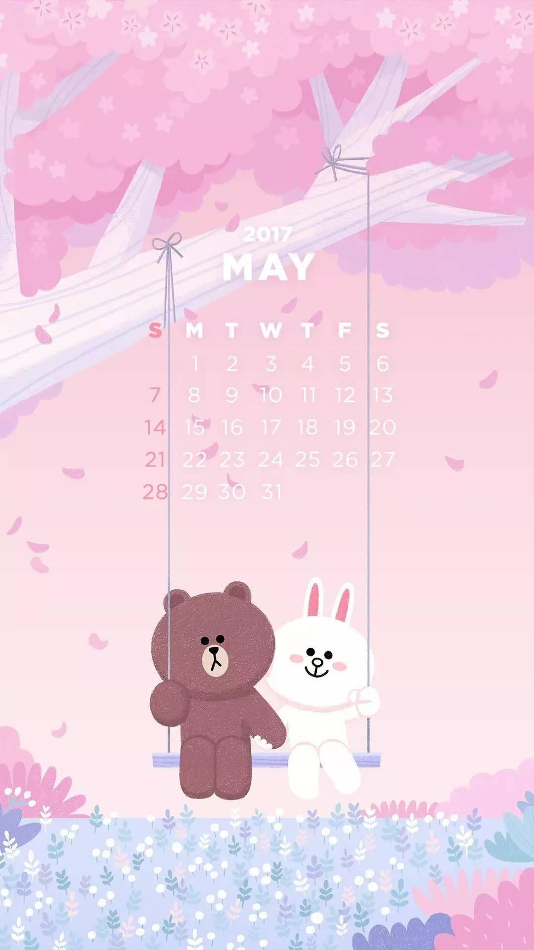 Line Friends送你5月份月曆 雪花新闻