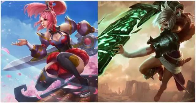 王者榮耀:花木蘭vs英雄聯盟:瑞文圖片