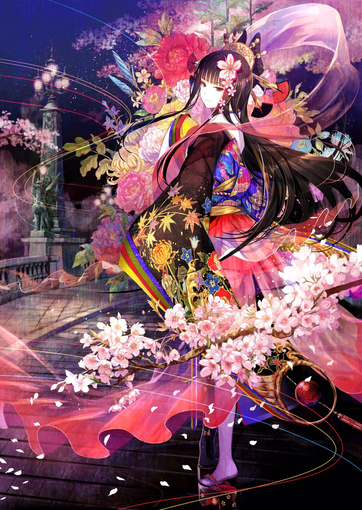 """日本动漫和服美女_让男人""""善解人意""""的日本和服动漫美女图片集"""