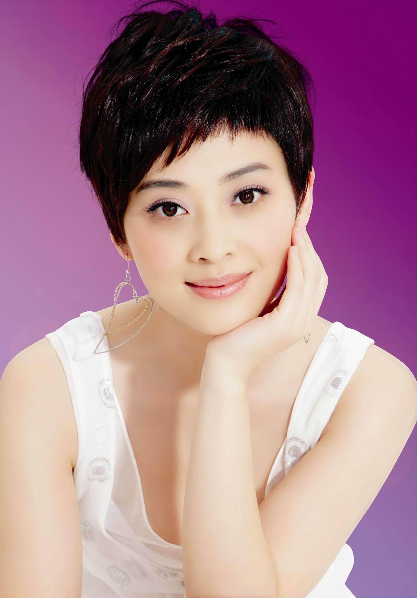 韩国明星中短发发型_女明星时尚短发舞会发型 明星中短发发型图片