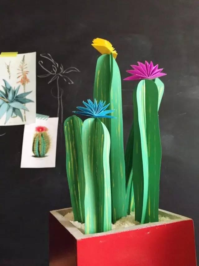 手工制作   幼兒園各種仙人掌diy手工制作圖片