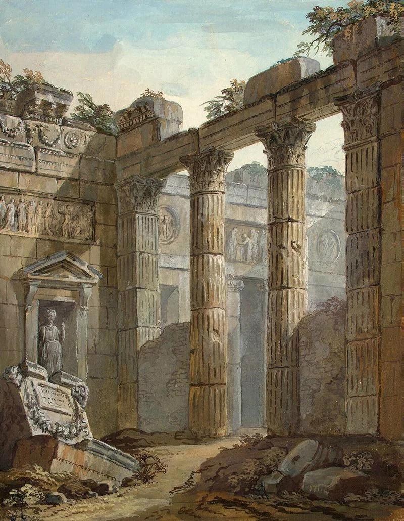 www1820_charleslouis(1721-1820)建筑水彩画,气势宏伟