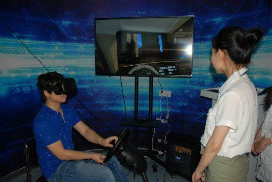 开车模拟真车游戏_你所不知道的云和数据西安中心VR体验区那些事儿