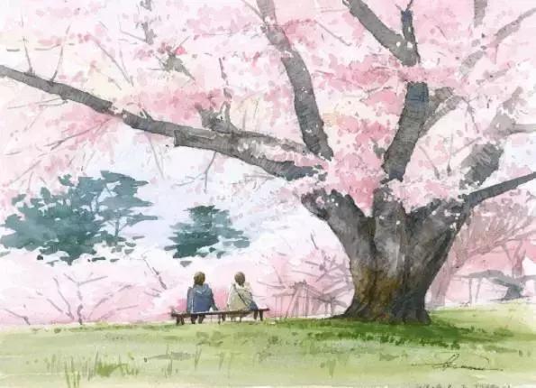 轻松,素雅又不失温馨可爱的乡村风景画