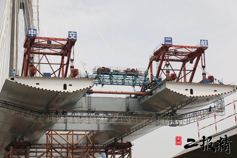 芜湖长江二桥规划图_芜湖长江二桥7月工程进展,现场实拍图霸气侧漏