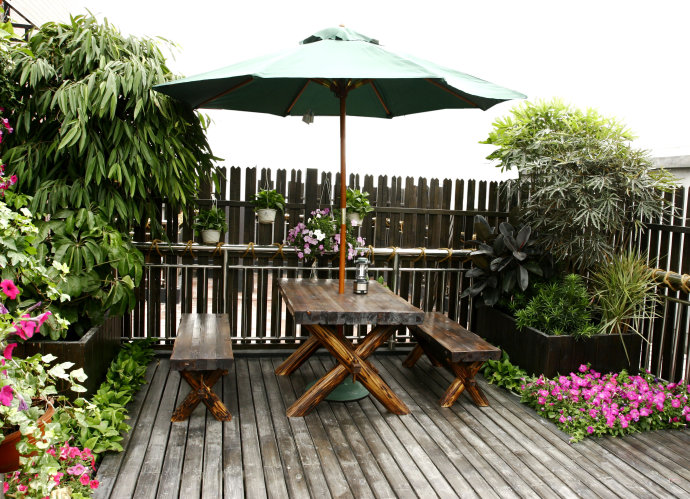 成都屋顶花园设计_成都屋顶花园设计之植物选择