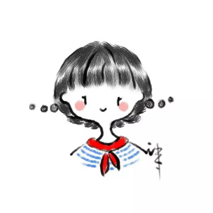 微信手绘卡通头像_机灵搞怪的女生卡通微信头像!!