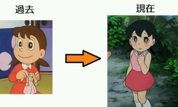 动漫吐槽视频_历年日本动漫画风变化对比静香太h遭漫吐槽