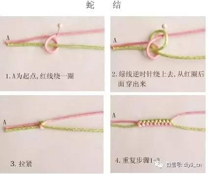 单线凤尾结编法图解_史上最全的手绳手链基本编法